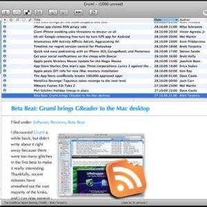 Google Reader Mac Application
