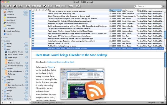 gruml mac google reader