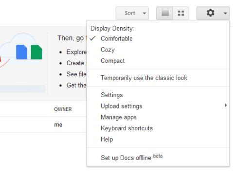 google drive offline setting