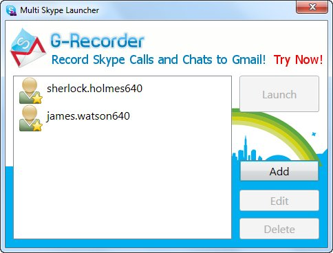 multiple skype accounts manager