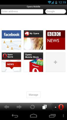 opera mini android web browser