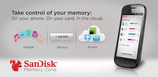 sandisk cloud storage android