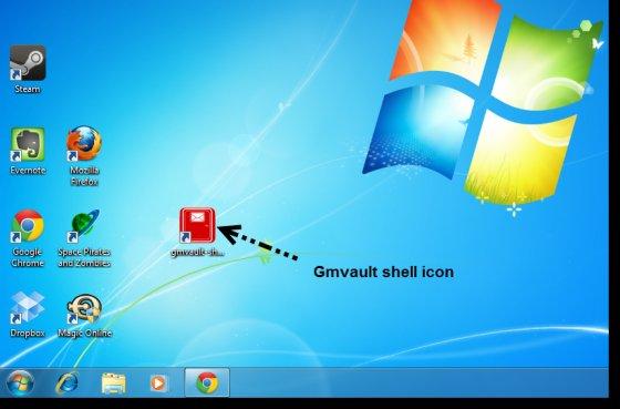 gmvault shell