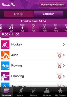 london 2012 result app