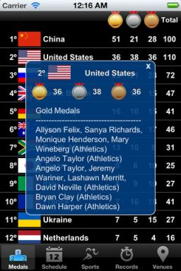 olympic 2012 iphone ipad app
