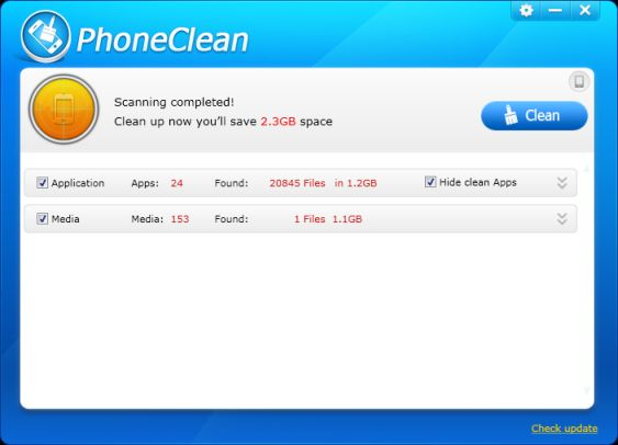 cleanup iphone space