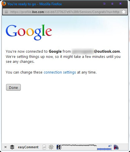 importing contacts of google