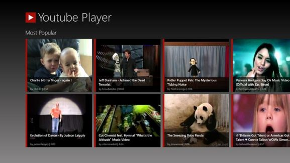 YouTube Player app for Windows 8- A Featured Rich App