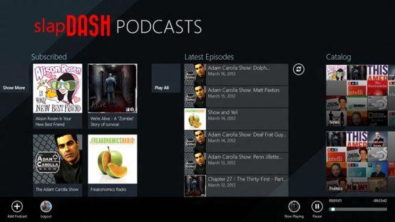 Podcast Player for Windows 8 SlapDash Lands in Windows 8 Landscape