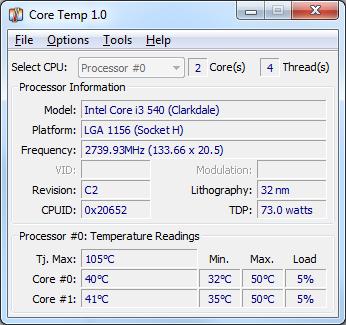 core temp software