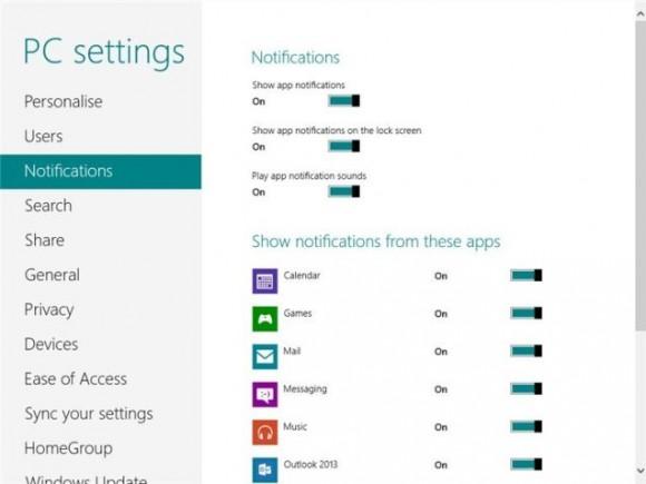 notification area
