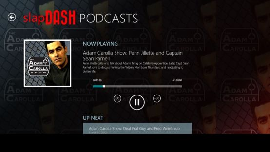 podcast playing controls