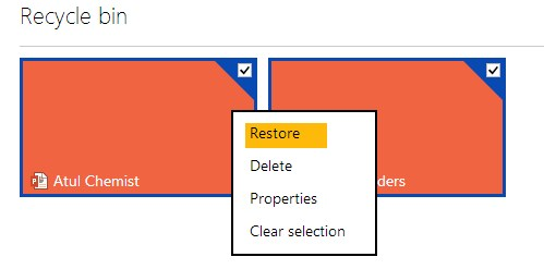 restore deleted files skydrive