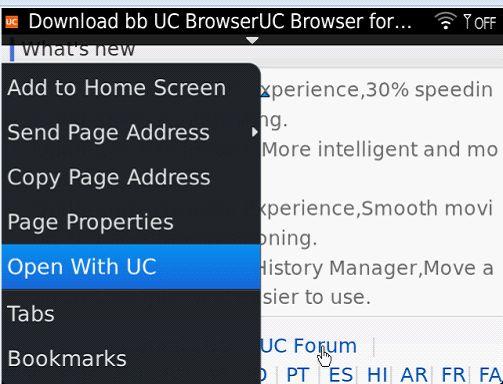 uc browser associated program