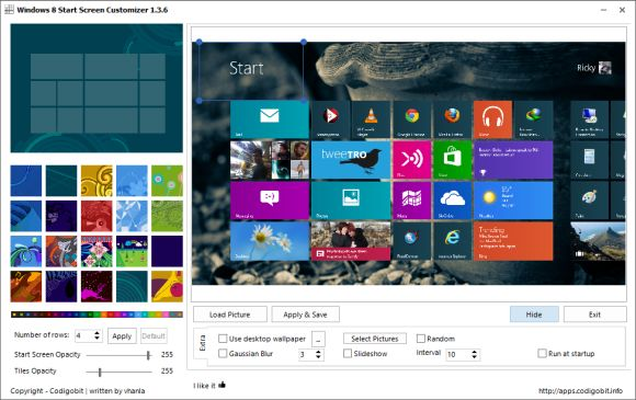 customize windows 8 start screen