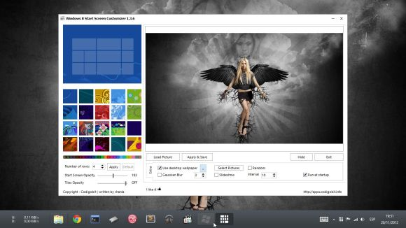 windows 8 start screen customizer