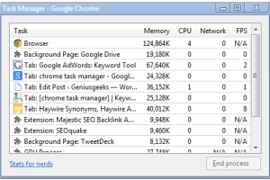 chrome task manager
