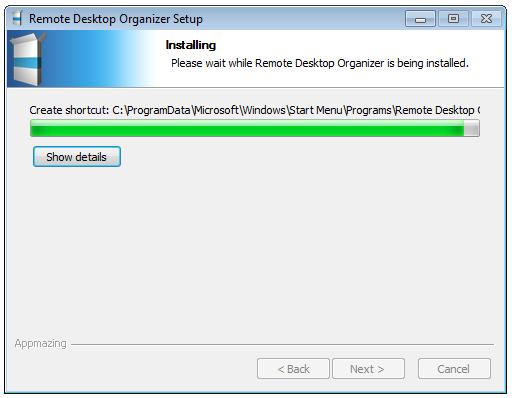 install remoote desktop organizer