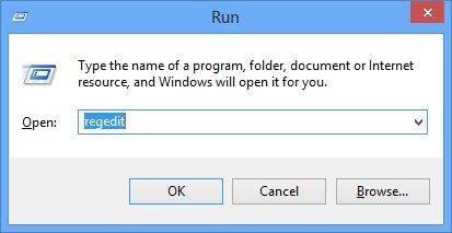 regedit run command
