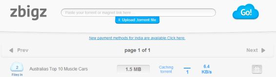caching torrents