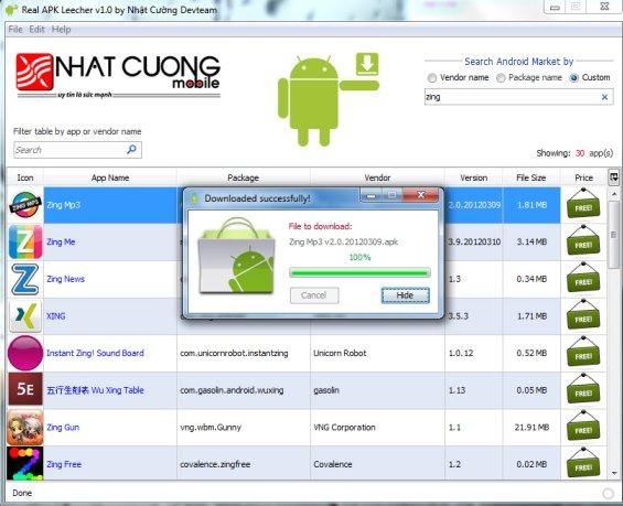 downloading apk files