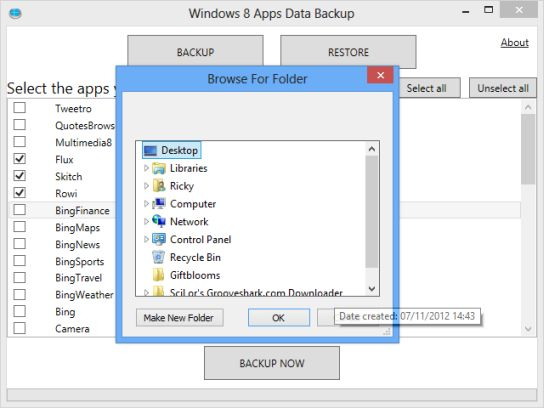 save windows 8 apps data backup