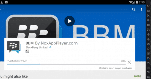 Download Process of BBM in Emulators Playstore