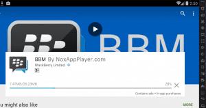 Download Process of BBM in Emulators Playstore