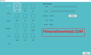 Wondershare Filmora Export Option