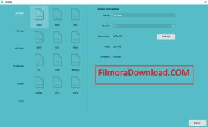Wondershare Filmora Export Option