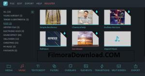 Wondershare Filmora Music Library