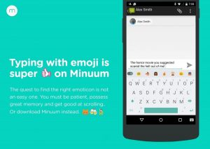 Minuum Emoji Keyboard for Android