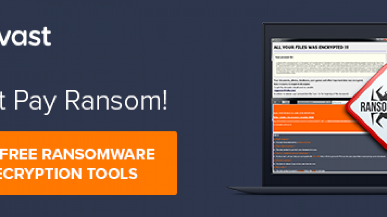 Free Ransomware Decryptors by Avast