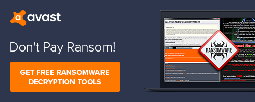 Free Ransomware Decryptor Tools by Avast! Don't Pay Ransom!
