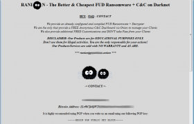 Ranion Ransomware as a service