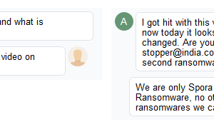 Spora Ransomware Support