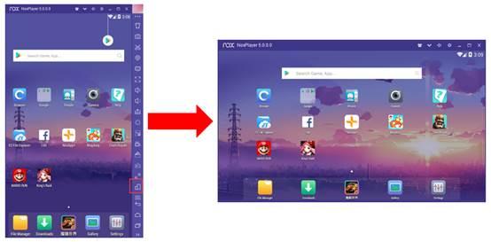 Nox App Player Rotate Button Update