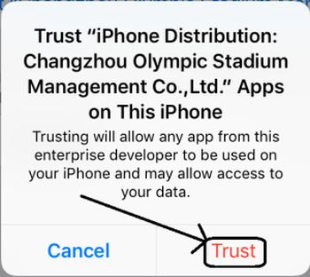 Trust AppValley VIP on iPhone iPad