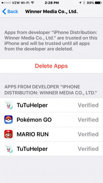 Tutuapp unable to verify
