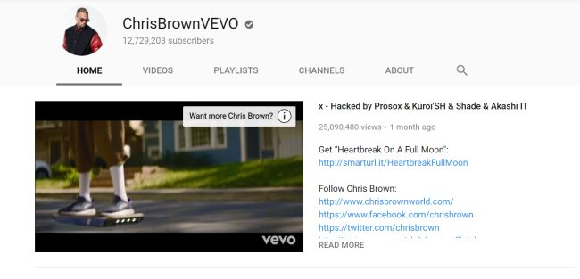 Various Vevo YouTube Channel Hacked by Prosox & Kuroi'SH - Rule FM!