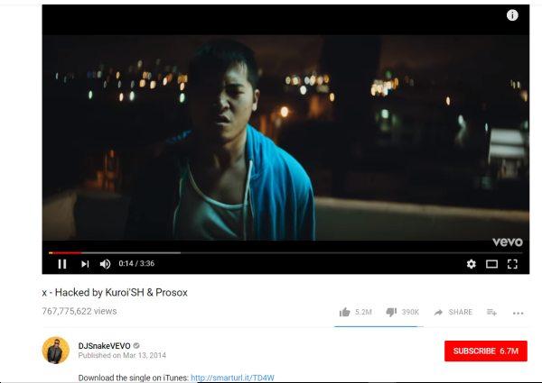 DJ Snake Video Hacked