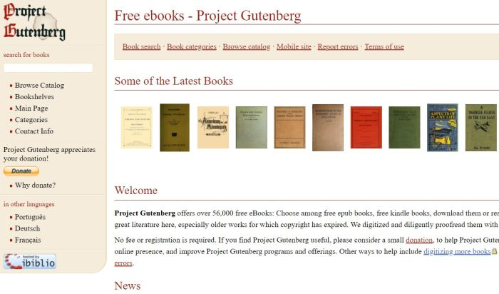 project gutenberg free ebook torrent site