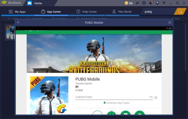 Installing PUBG Mobile on PC using Bluestacks