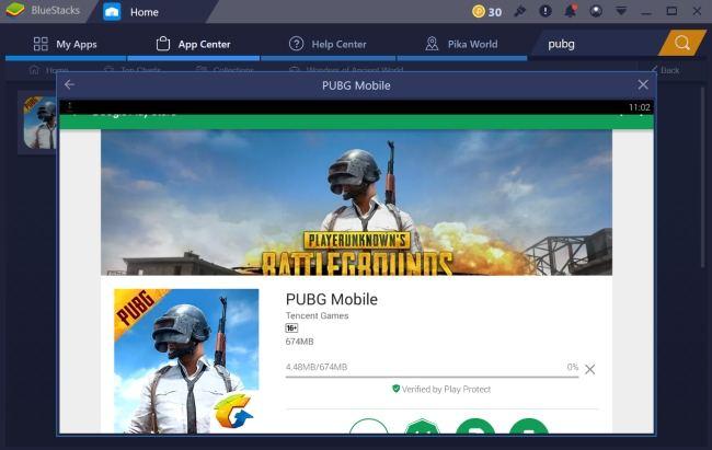 Installing PUBG Mobile on PC using Bluestacks