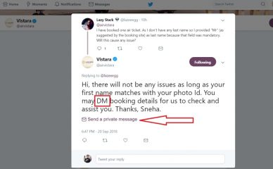 Exclusive: Twitter is Testing a New Feature to Send Direct Messages from its Feed (Conversation Threads)?