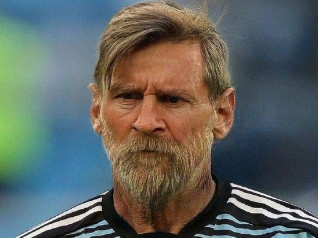 FaceApp Instagram Filter on Messi