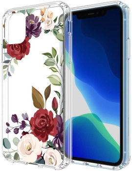 Flocute Clear Floral Case for Women and Girls