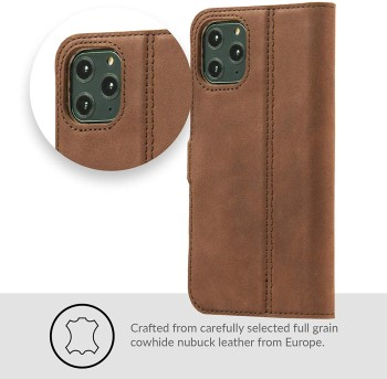 Snankehive leather iPhone 11 Pro Max case with flip cover