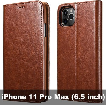 iCarerCase is the best Leather iPhone 11 Pro Max Case in Brown Color