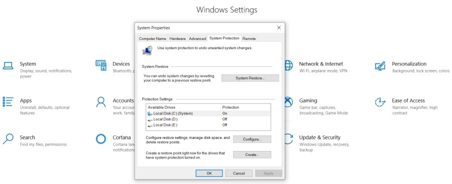 System Restore Alternatives for Windows 10